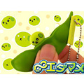 Novelty Silicone Soybean Stress Reliever Squeeze Vent Toy Funny Beans Pea Decompress Toys Keychain Children Adult Toys Gifts