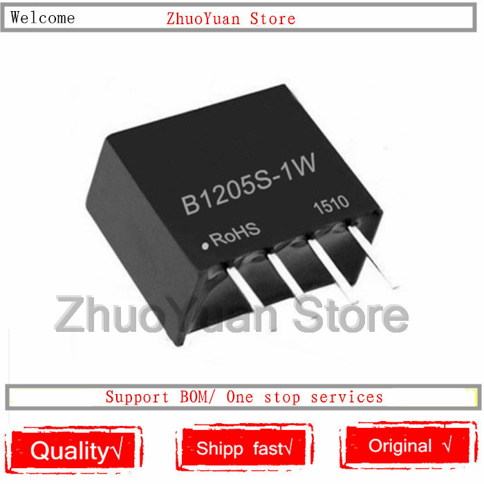 1PCS/lot B1205S-1W B1205S DIP-4 12V To 5V DC-DC Isolated Power Module