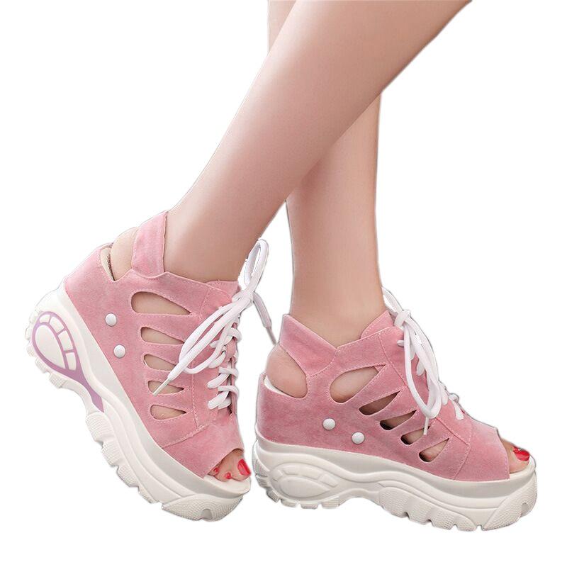 2018 Lace-up-uri noi de vară Sandale femei Sandale de înaltă - Pantofi femei