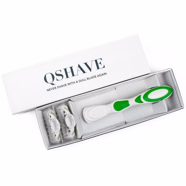 Бритвенный станок для женщин Qshave Green Series