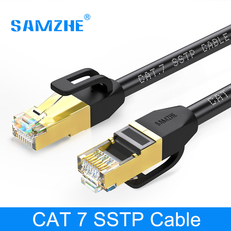 SAMZHE Cat7 FTP Ethernet Patch Cable - RJ45 Computer,PS2,PS3,XBox Networking LAN Cords 0.5/1/1.5/2/3/5/8/10/15/20/25/30/40/50m