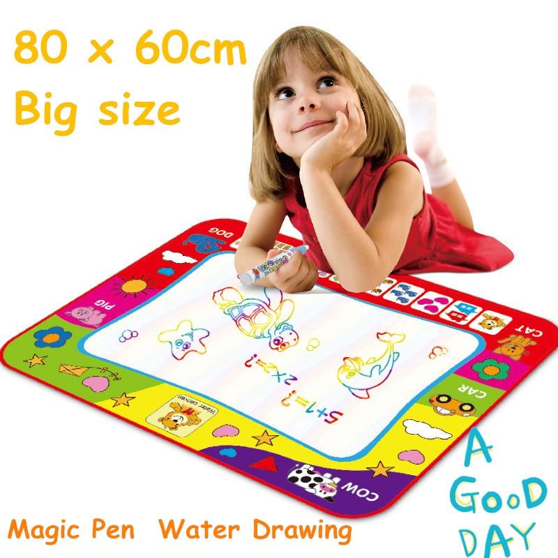 Magic Pen Doodle Painting Bild Vatten Ritning 80 x 60cm Baby Kids - Lärande och utbildning