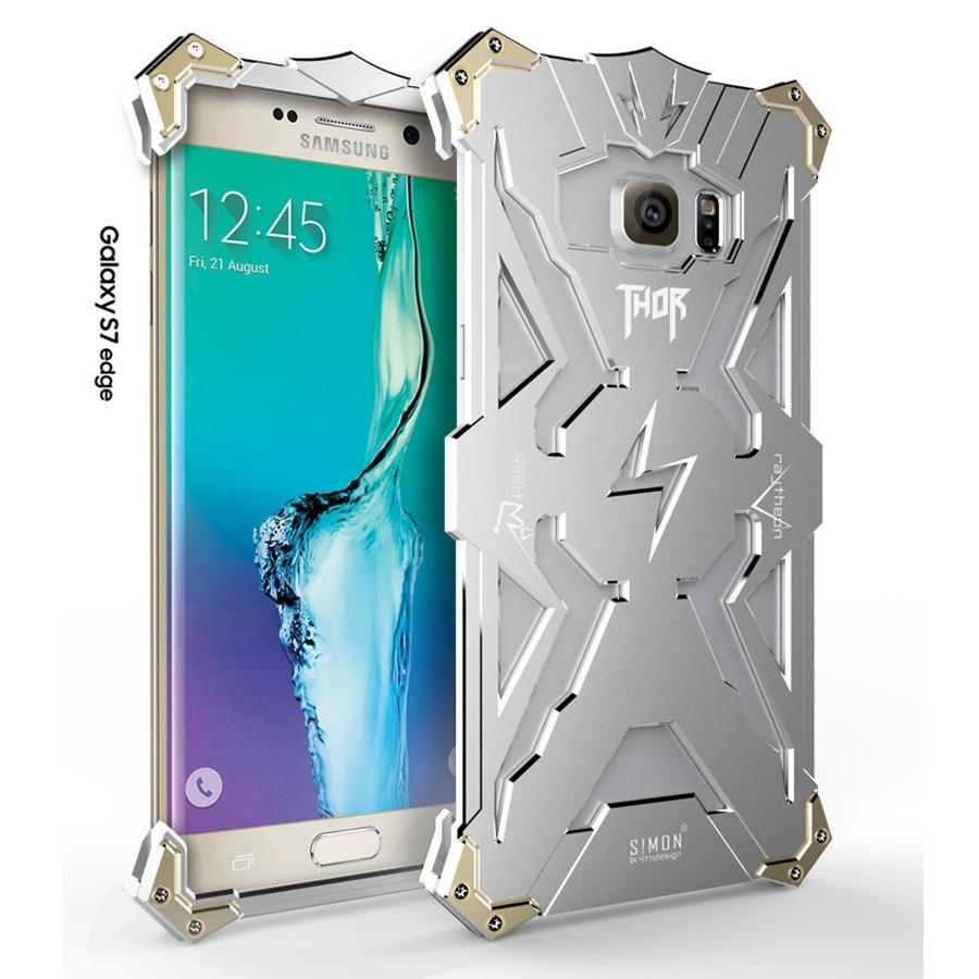 imágenes para Para samsung galaxy s7 edge case original simon serie thor IRON MAN Cubierta de la Cáscara de Aluminio del Metal de Lujo Del Teléfono de Servicio Pesado casos