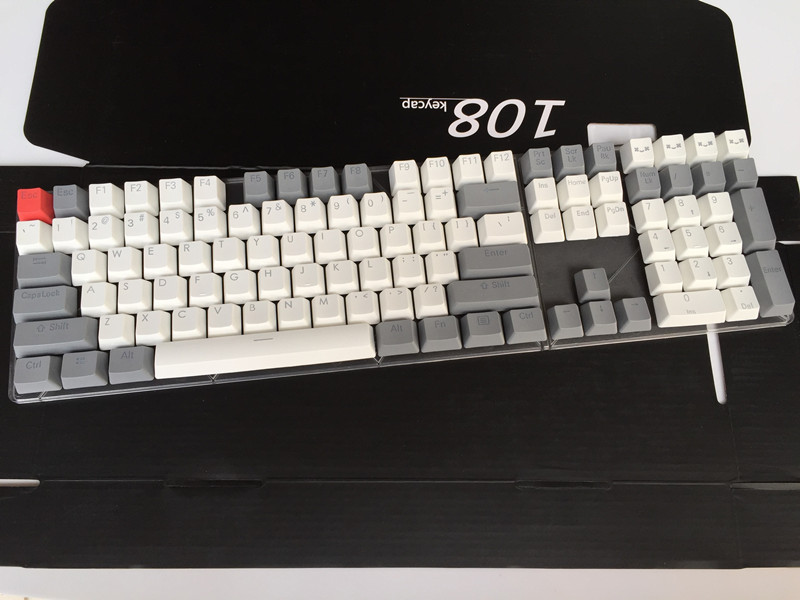 Backlit 108 ANSI ISO-layout Dikke PBT Keycap Double shot Backlight - Computerrandapparatuur - Foto 5