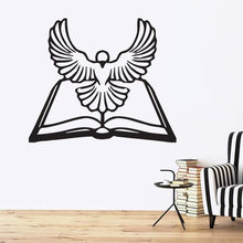 Vinyl Decal Animals and Birds Decor Wall Sticker General Ledger Bible White Dove Holy Spirit Removbale Home Bedroom Decor L933(China)