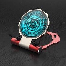 10 Вт автомобильное беспроводное зарядное устройство Qi стол Быстрое беспроводное зарядное устройство складной Железный человек зарядное устройство Держатель для iPhone XS X Samsung S9 S8