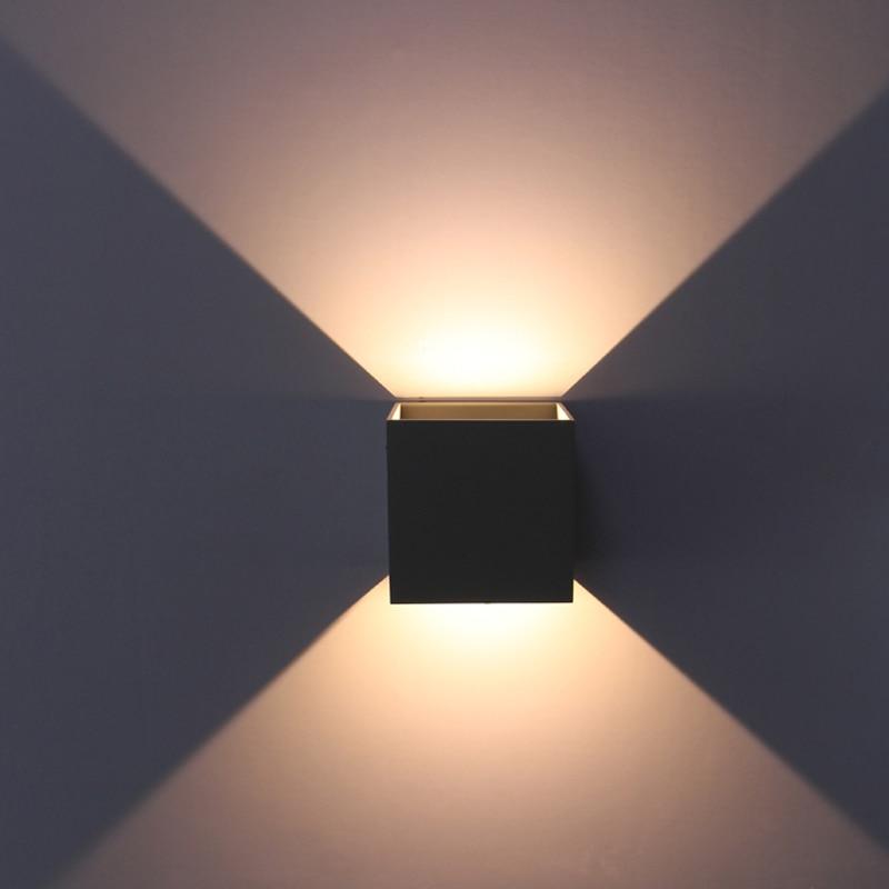 Éclairage extérieur imperméable à l'eau, réglable surface monté CUBE LED Wall Light, in & out-porte mur lampes input100-240V
