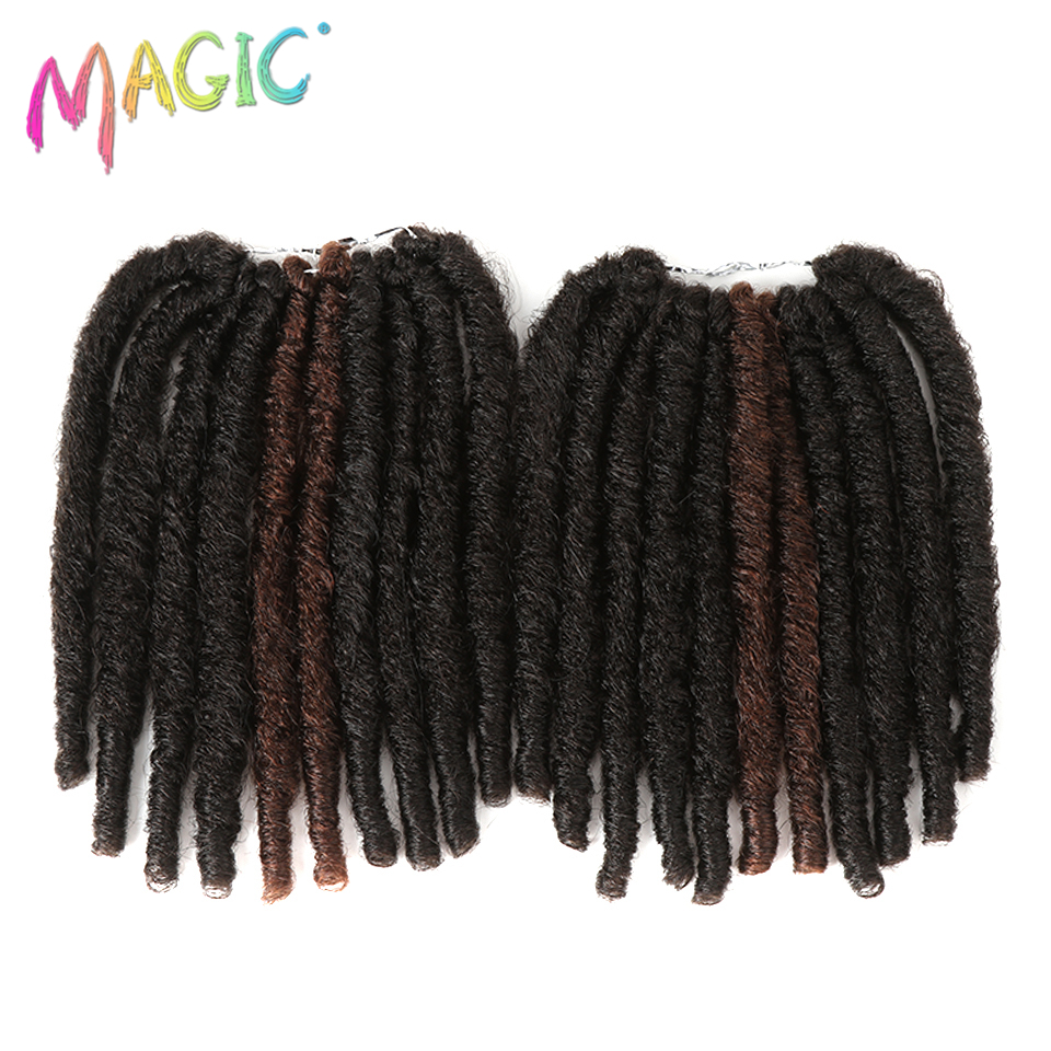 Hot Sale Magic 10 Inch 20strand Faux Locs Crochet Braids Hair