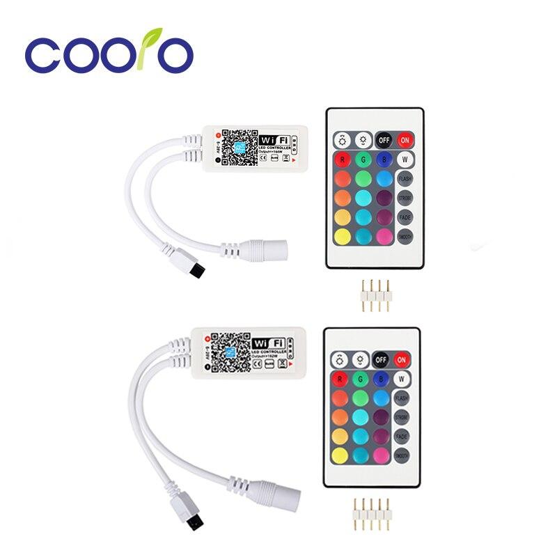 Licht & Beleuchtung Led Wifi Rgb/rgbw Led Controller Mini Dc12v Mit Ir 24key Fernbedienung Für Rgb/rgbw Led Streifen Lichter Beleuchtung Zubehör