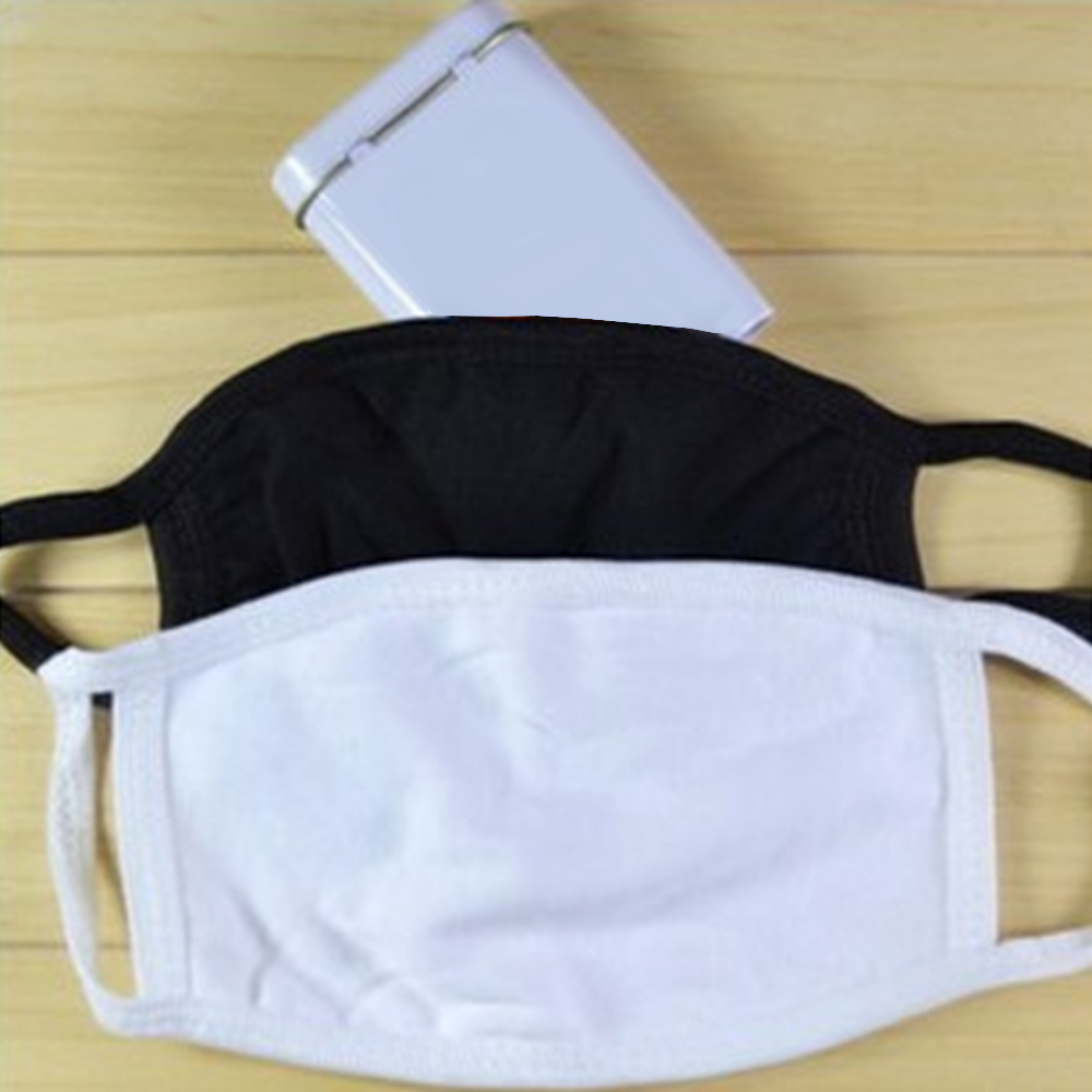 1pcs Cotton Mask Health Cycling Anti-Dust Mouth Mask Respirator Unisex Warming Wearing Windproof Mouth-Muffle Face Black White