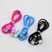 100pcs Nylon  weaving USB to Cable Male Extension for Radiator Hard Disk Computer Camera 2.0 Extender