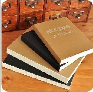 B5 A5 16K 32k New Sketch Book Notebook Notepad SketchBook for Paiting Drawing Diary Journal Creative Gift try your dream