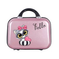 Girls Cartoon Animal Pattern Portable Makeup Suitcase Travel Beauty Case Cosmetic Bags Women Toiletry Lovely Handbag Accessories