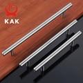 KAK 4 ~ 24'' Stainless Steel Handles Diameter 10mm Kitchen Door Cabinet T Bar Straight Handle Pull Knobs Furniture Hardware