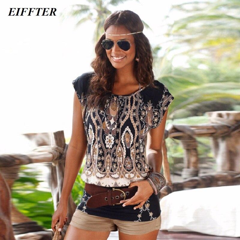 Eiffter summer women dress 2016 new casual o neck short sleeve print sexy mini bodycon dresses