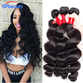 VIP Beauty Peruvian Loose Wave 4pcs lot 7A Unprocessed Human Hair weave Bele virgin hair  Peruvian Virgin Hair Loose Wave Curly