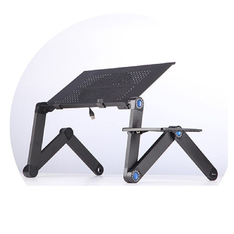 Portable Folding Table Laptop Stand Portable Table Laptop Tray Black Sofa Bed Aluminum Computer Table