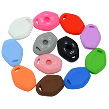 New Car Accessories Silicone Remote Key Skin Cover Case Shell FOB Fit for BMW 1 3 5 6 7 Series 4 Buttons Silica Gel Holder Case 4 buttons car key cover fob remote shell case for bmw f10 f20 f30 f40 5 7 series m15