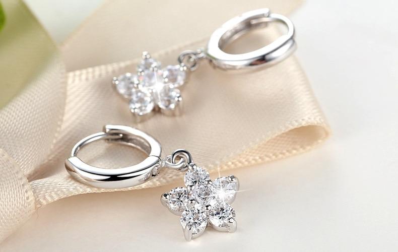 Temperament female long earrings s925 sterling silver wave tassel earrings long tassel earrings