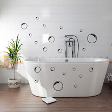 21 Bubbles Outline Wallpaper Bathtub Bathroom Shower Door Decoration Screen Tile Wall Sticker Decal Mural Wallpaper Home 60*80CM