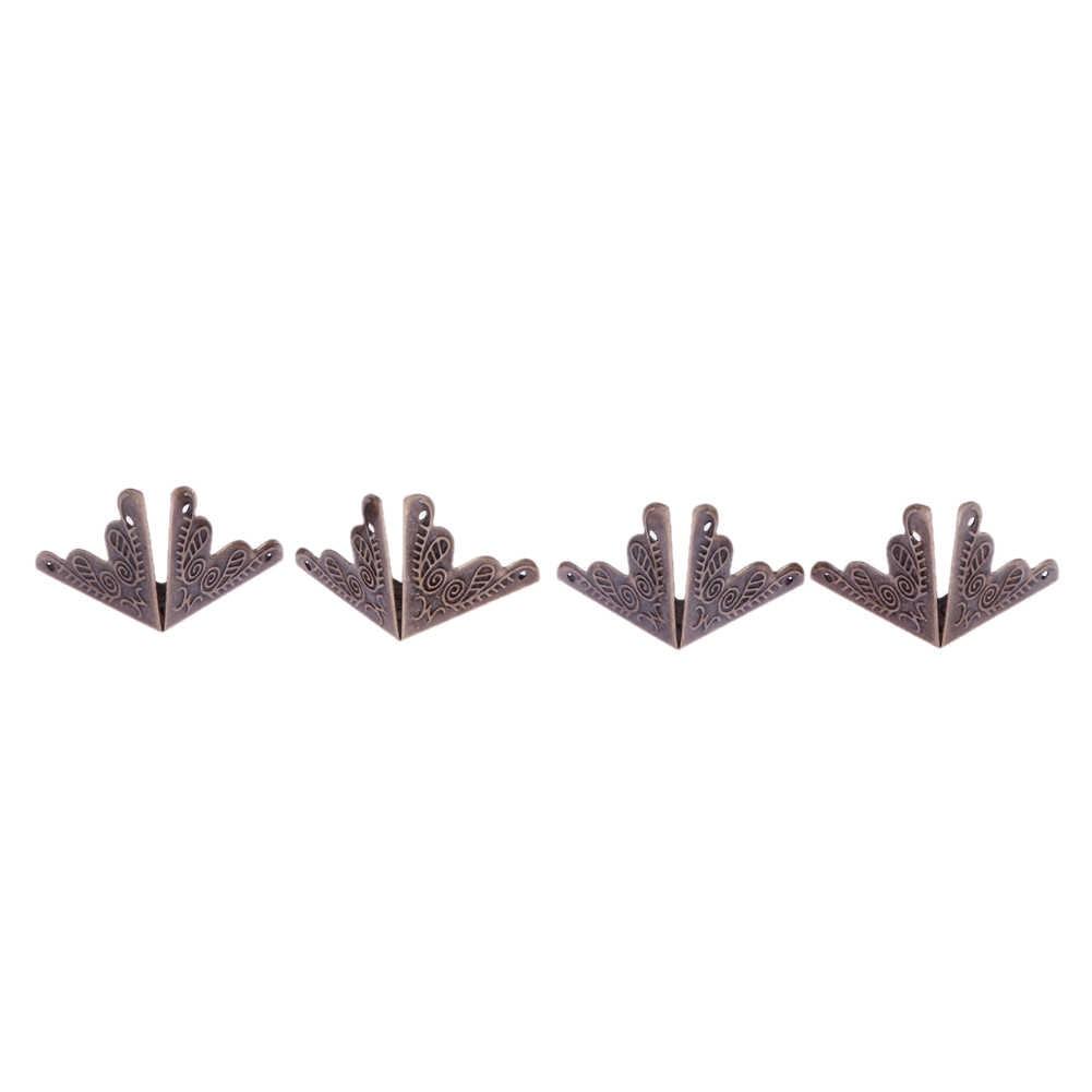 10 قطعة حافظة خشبية حافة غطاء جذع ركن حامي ديكور العتيقة برونزية لهجة ل مكاتب الجداول أدراج dresعلب للمجوهرات