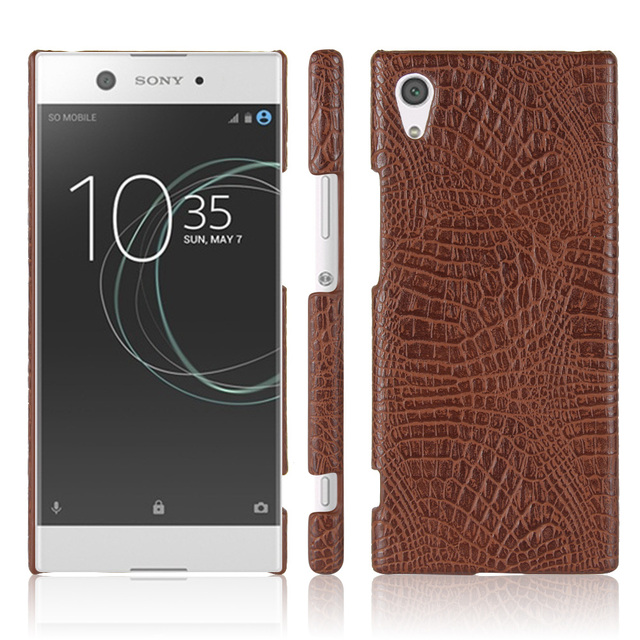online store 18345 ed97f US $4.29 |HUDOSSEN For Sony Xperia XA1 G3112 G3116 G3121 Case Crocodile  pattern PU leather Hard Back Cover For Sony XA1 Protective Case-in ...