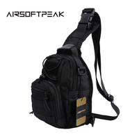 AIRSOFTPEAK 600D Molle Tactical Chest Packs Military Paintball Nylon One Shoulder Backpack Outdoor Cross Body Hunting