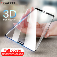 Protector de pantalla de cristal templado para móvil, cubierta completa 3D para Huawei P20 Pro, P10 Lite, P30, Honor 10 Lite, 20, 30