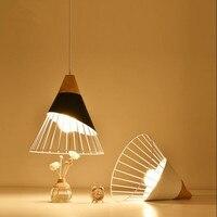 Modern Wood Pendant Lights Lamparas Colorful Aluminum lamp shade Luminaire Dining Room Lights Pendant Lamp For Home Lighting