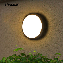 Thrisdar waterproof LED wall light outdoor garden porch wall lamp aluminum alloy aisle balcony ceiling lamp outdoor ceiling light outdoor ceiling walking light ventilation garden villa continental locker room kitchen aluminum alloy z