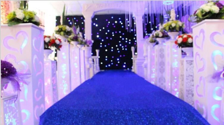 Blizganti raudona vestuvių dekoracija perlamutriniu kilimu, - Šventės ir vakarėliai - Nuotrauka 4