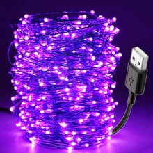 10M Led Schwarz Licht UV String USB Weihnachten Halloween Party Wasserdicht DIY Bar Lampe Keimtötende Bühne Spukhaus Uv(China)