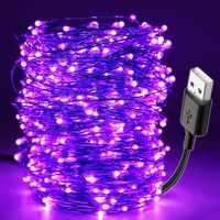 10M Led Schwarz Licht UV String USB Weihnachten Halloween Party Wasserdicht DIY Bar Lampe Keimtötende Bühne Spukhaus Uv