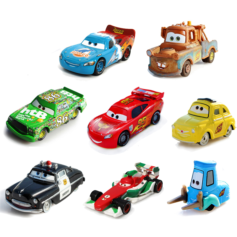 Disney Pixar Cars 2 Storm Cars 3 Lightning McQueen Mater Vehicle 1:55 Diecast Metal Alloy Toys Model Car Birthday Gift For Kids