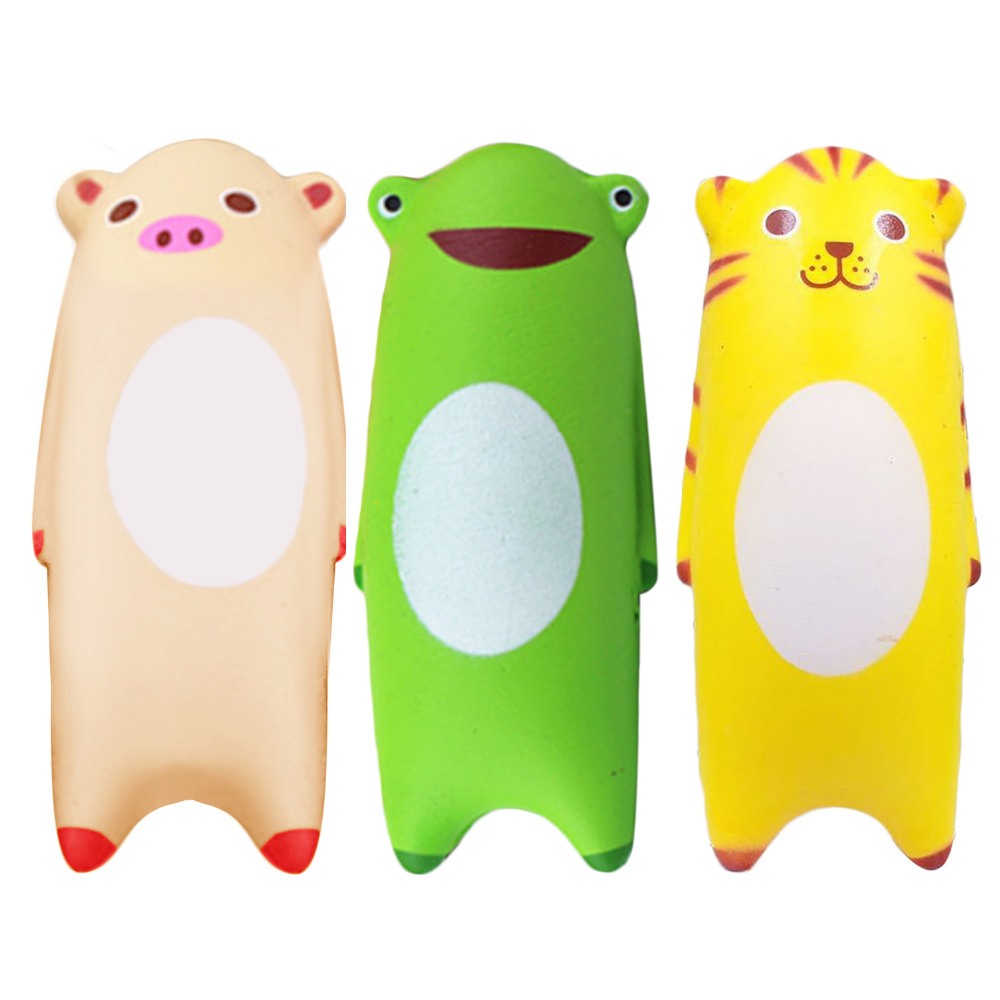 Satkago Kawaii Soft Squishy Anti Stress Fun Simulation Animals Toys Slow Rising for Children Kids Adults Relieves Stress Anxiety