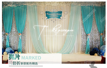 10ft x 20ft Tiffany Blue Wedding Backdrop Stage Curtain Event Decoration
