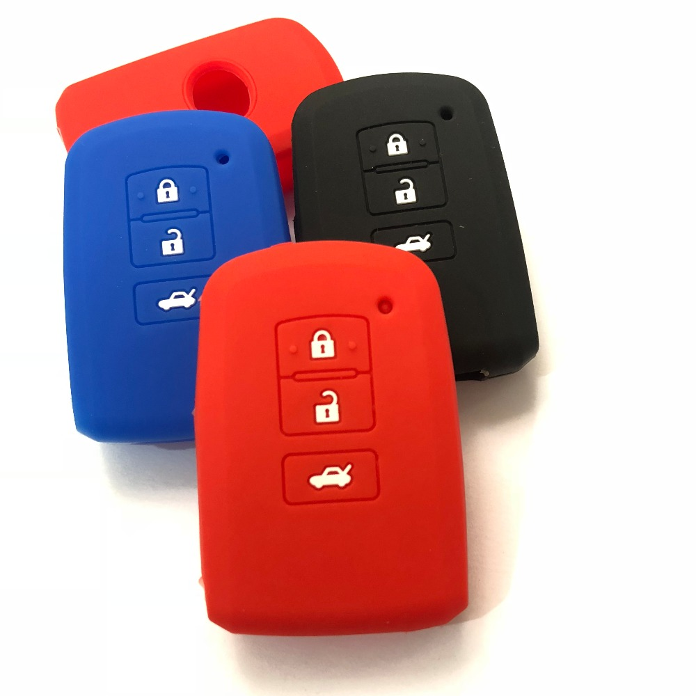 Чехол для смарт-ключей для Toyota, 3 кнопки, силиконовый держатель для брелка Land Cruiser Corolla