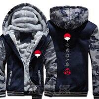 New Naruto Hoodie Anime Ootutuki Hagoromo Uzumaki Naruto Coat Jacket Winter Men Thick Zipper Sweatshirt