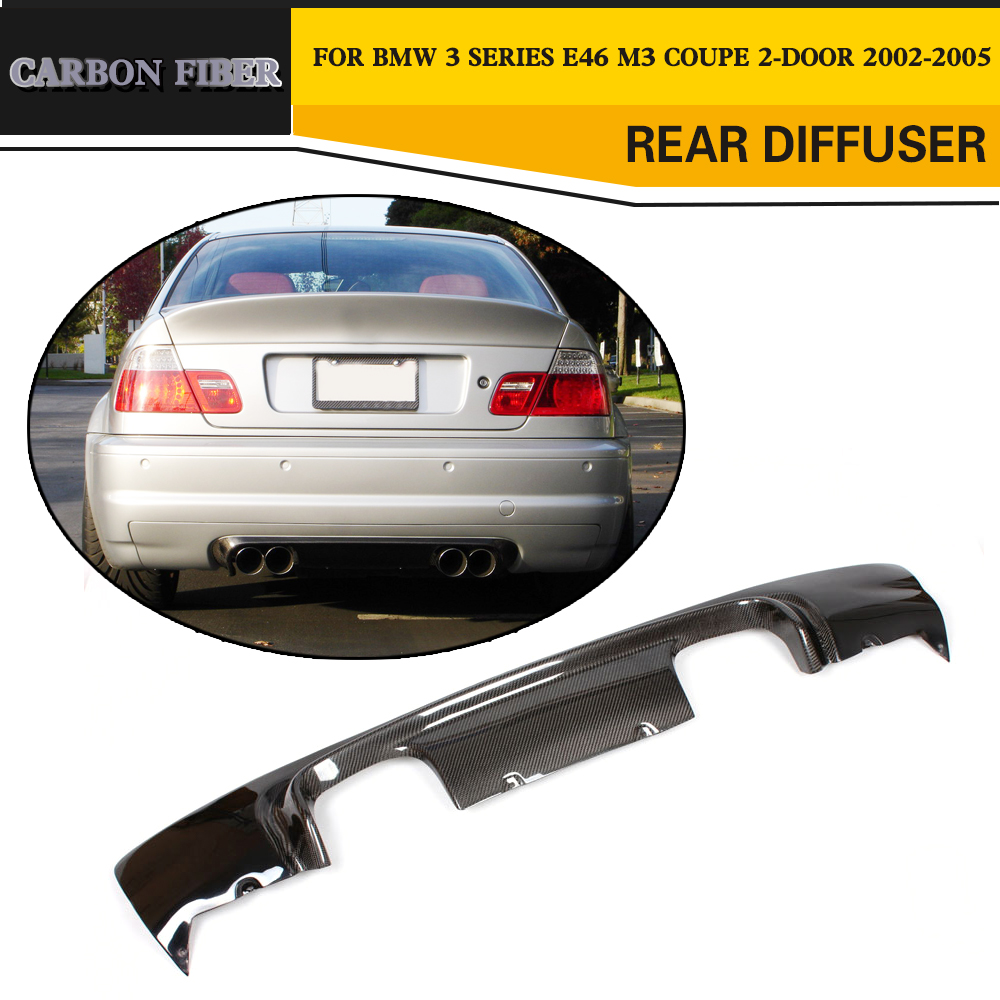 Carbon Fiber Racing Rear Diffuser Lip Spoiler For BMW E46 M3 Coupe 2 Door 2002 2005
