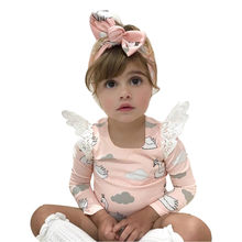 Baby Girl Clothes Infant Newborn Baby Girl Spring Autumn Baby Rompers Cartoon Swan Romper Tulle Princess Dress Clothes(China)