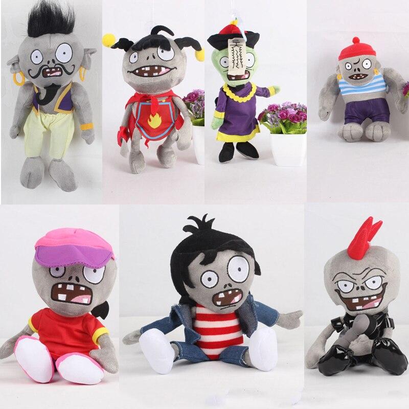 22-30cm 1pcs Plants Vs Zombies Plush Toys Doll PVZ Gargantuar Zombie Plush Stuffed Toys Doll Soft Toy Gifts For Children Kids