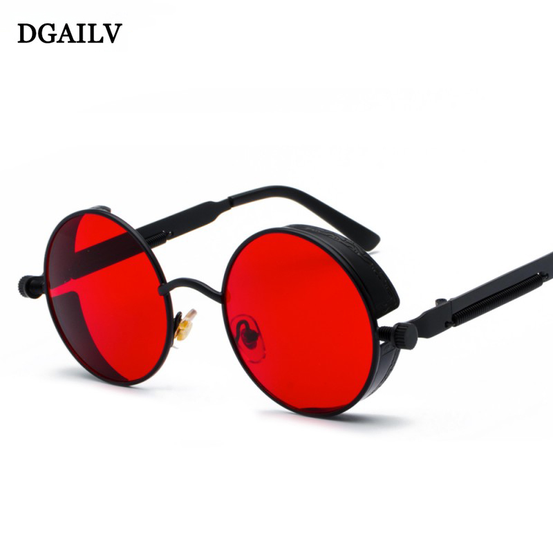 DGAILV metal steampunk round Sunglasses  fashion Polarized UV400 sunglasses Retro Classic brands gafas adult eyewear