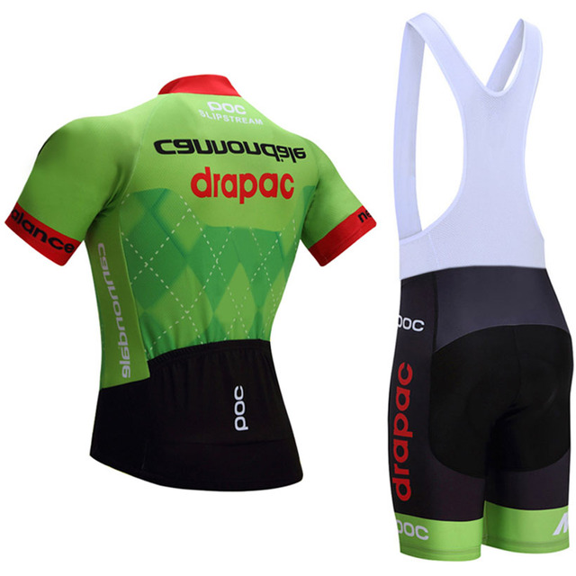 Team Pro Cycling Jersey Breathable Bike Shorts Set Ropa Ciclismo Mens Green Summer Pro Cycling Wear Ride Maillot Culotte Free Shipping