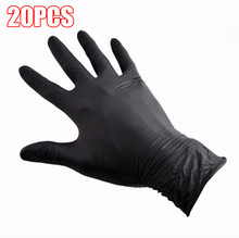 20PCS Soft Nitrile Tattoo Gloves Black Medium Disposable Latex Tattoo Gloves For Tattoo Machine Gun Power Kit Set Supply BNG#