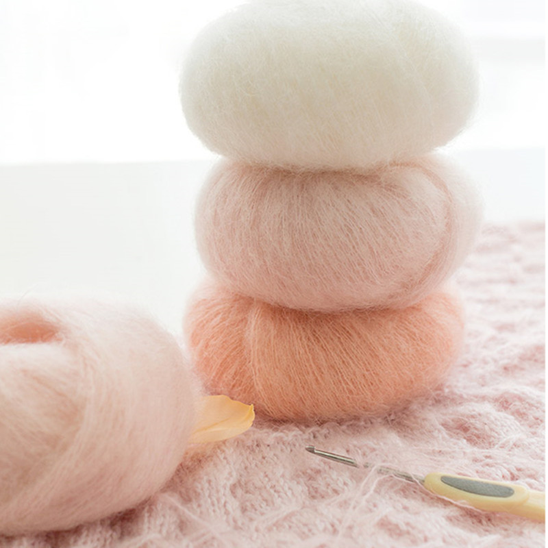 24 - 25g / Ball Angola Amorous Feelings Thin Mohair Wool Yarn Plush Fine Wool Crochet Hand Knitting