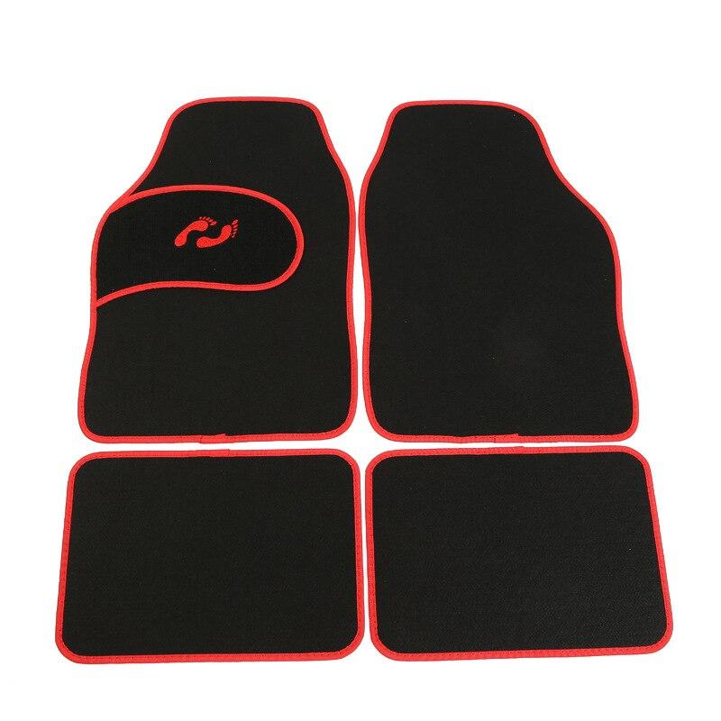 New Arrival Universal Car foot mat for auto anti-slip mat ,Red blue gray Car Floor Mats, Car Styling Interior Auto floor Mats