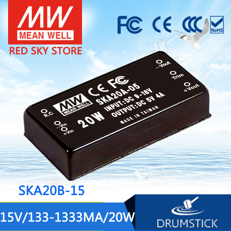 Advantages MEAN WELL SKA20B-15 15V 1333mA meanwell SKA20 15V 20W DC-DC Regulated Single Output Converter advantages mean well skm30c 15 15v 2a meanwell skm30 15v 30w dc dc regulated single output converter