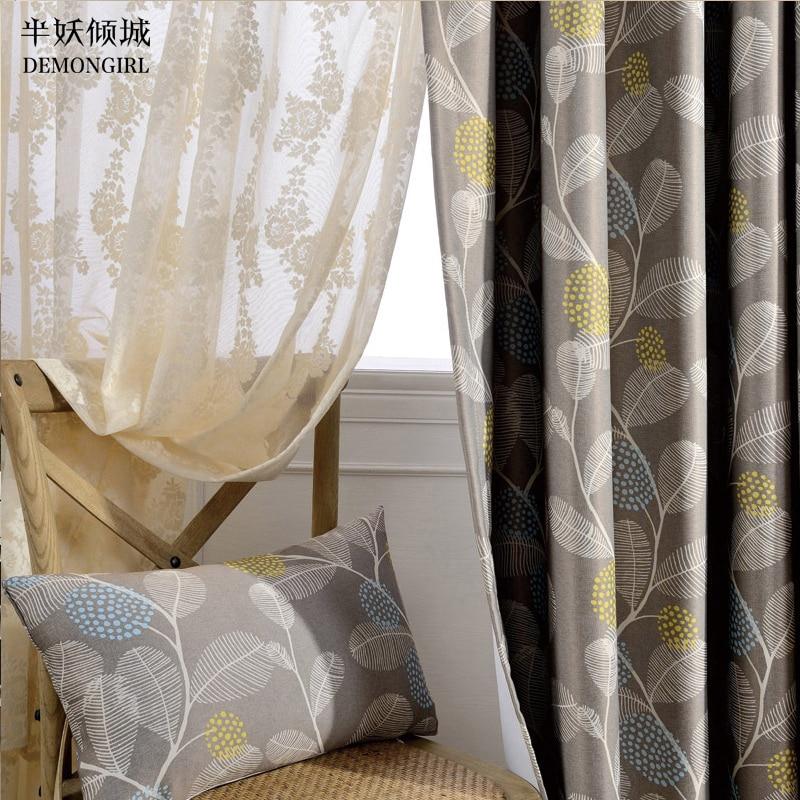 DEMONGIRL Textiles Para El Hogar 85% Apagón Jacquard Cortinas para el Dormitorio