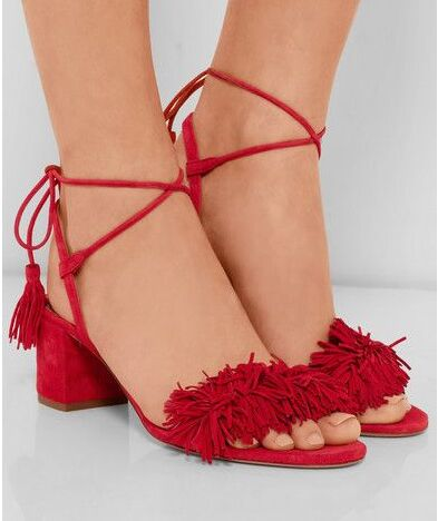 Hot sale new design women fashion Ankle Straps tassel med heel sandals lace up sexy chunky heeled fringe Summer dress shoes choudory 2017 design cutouts lace up sexy summer shoes woman fringe fashion beading heel gladiators sandals female black silver
