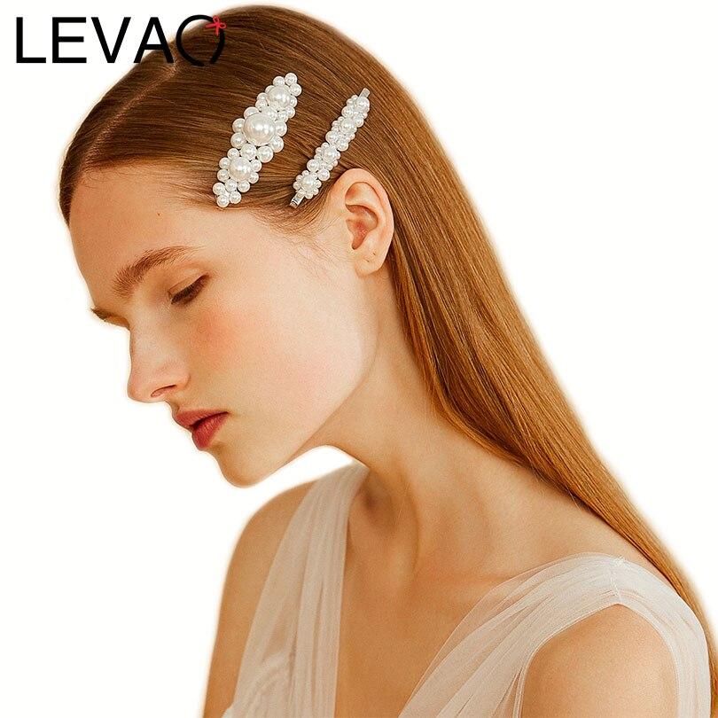 LEVAO Hair Ornaments Pearl BB Clip Women Side Bangs Headwear Hair Clip Hairpins Girls Hairgrips Accessories Barrettes Hot Sell